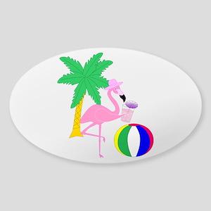 Pink Flamingo Tourist Sticker