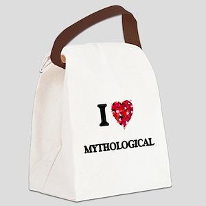 I Love Mythological Canvas Lunch Bag