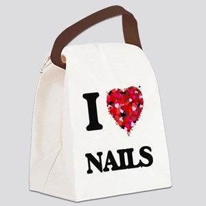 I Love Nails Canvas Lunch Bag