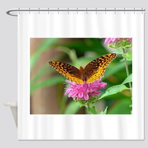 Silvery Checkerspot Butterfly Shower Curtain