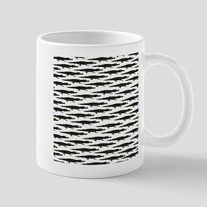 Black Caiman Pattern Mugs