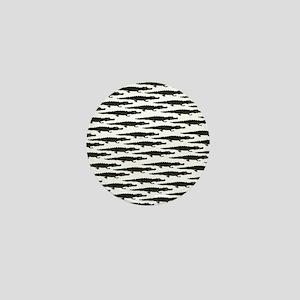 Black Caiman Pattern Mini Button