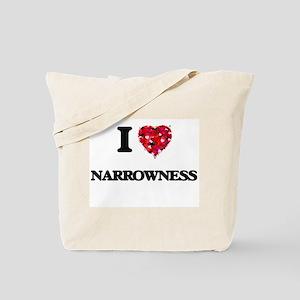 I Love Narrowness Tote Bag