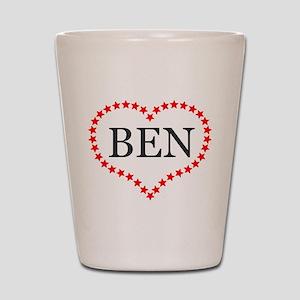 I Love Ben Carson Shot Glass