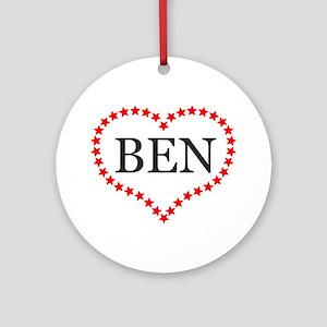 I Love Ben Carson Ornament (Round)