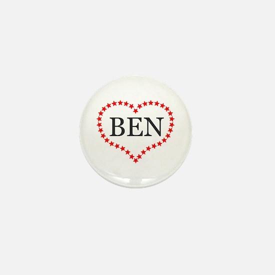 I Love Ben Carson Mini Button
