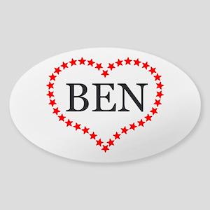 I Love Ben Carson Sticker