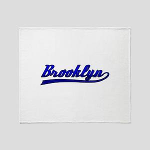 Brooklyn Comic Book Style Throw Blanket