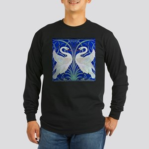 The Swans By Walter Crane Long Sleeve Dark T-Shirt