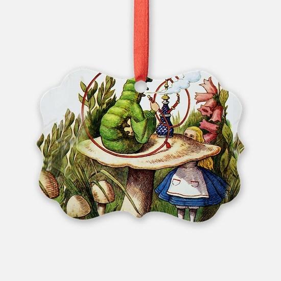Alice Meets the Caterpillar in Wo Ornament