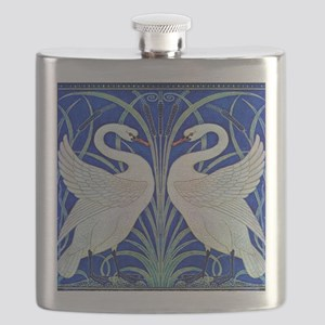 The Swans By Walter Crane Flask
