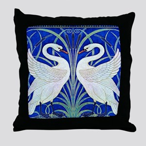 The Swans By Walter Crane Throw Pillow