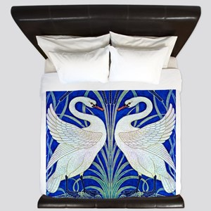 The Swans By Walter Crane King Duvet