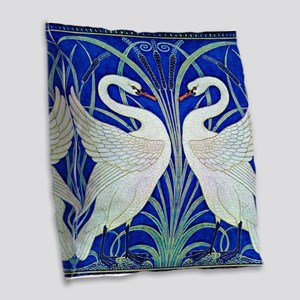The Swans By Walter Crane Burlap Throw Pillow