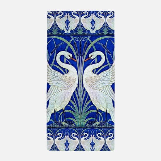 The Swans By Walter Crane Beach Towel