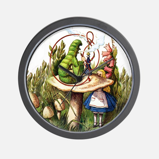 Alice Meets the Caterpillar in Wonderla Wall Clock