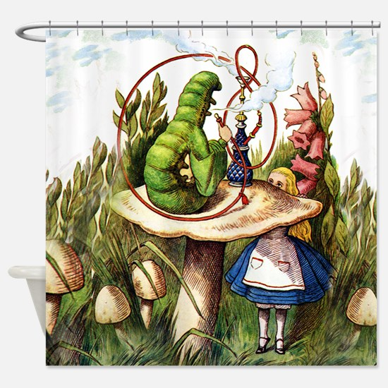 Alice Meets the Caterpillar in Wond Shower Curtain