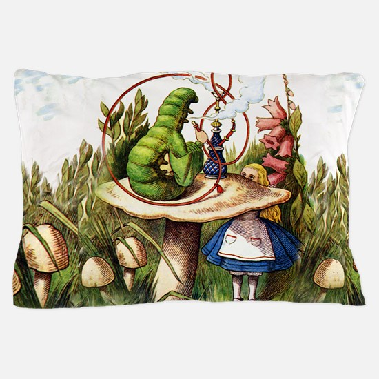 Alice Meets the Caterpillar in Wonderl Pillow Case