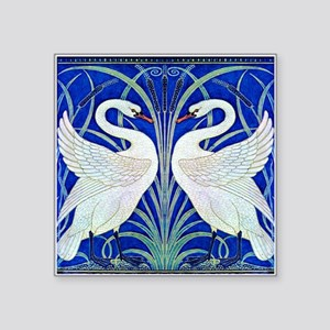 """The Swans By Walter Crane Square Sticker 3"""" x 3"""""""