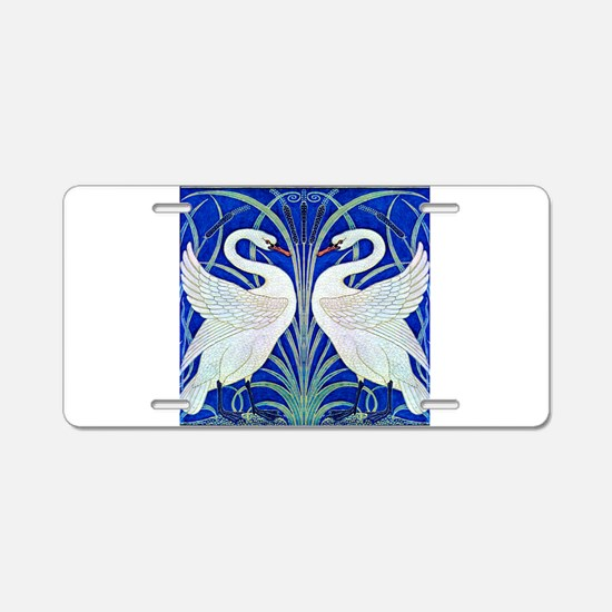 The Swans By Walter Crane Aluminum License Plate