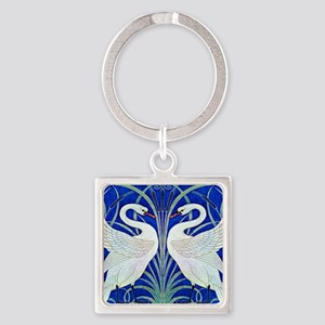 The Swans By Walter Crane Square Keychain