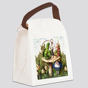 Alice Meets the Caterpillar in Wo Canvas Lunch Bag