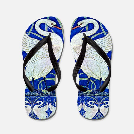 The Swans By Walter Crane Flip Flops