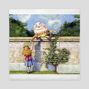 Humpty Dumpty and Alice in Wonderland Queen Duvet