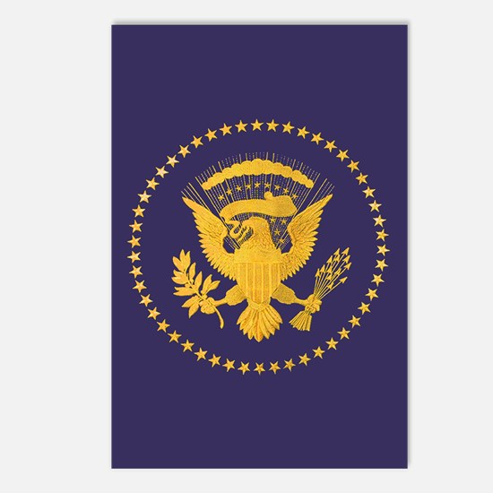 Gold Presidential Seal, V Postcards (Package of 8)