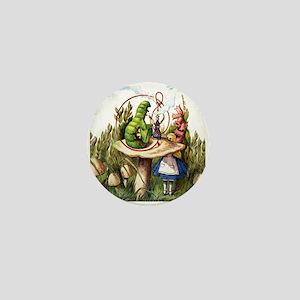 Alice Meets the Caterpillar in Wonderl Mini Button