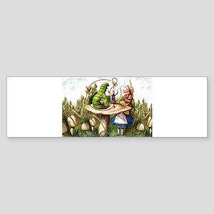 Alice Meets the Caterpillar in Wo Sticker (Bumper)