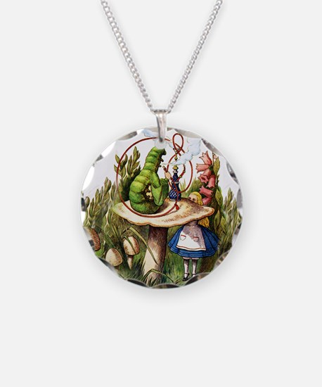 Alice Meets the Caterpillar Necklace
