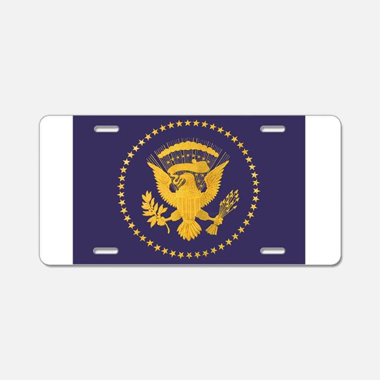 Gold Presidential Seal, VIP Aluminum License Plate