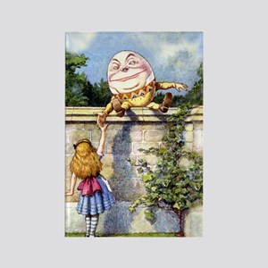 Humpty Dumpty and Alice in Wonder Rectangle Magnet