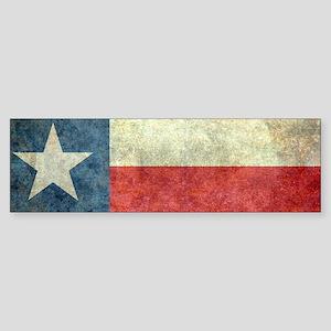 Texas state flag vintage version Bumper Sticker
