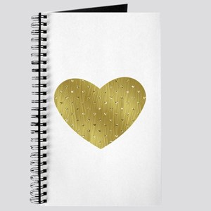 Gold Bling Heart Journal