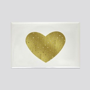 Gold Bling Heart Magnets