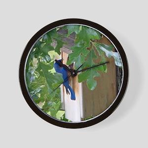 Birdbird at Birdhouse Wall Clock