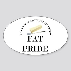 Fatty McButter Pride Oval Sticker