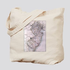 Vintage Map of New Jersey (1884) Tote Bag