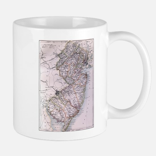 Vintage Map of New Jersey (1884) Mugs