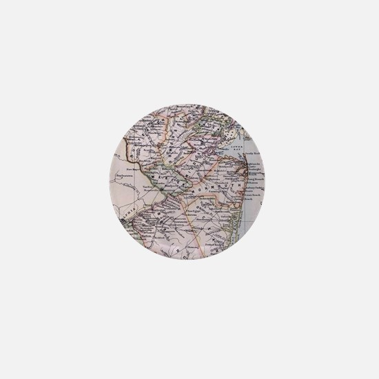 Vintage Map of New Jersey (1884) Mini Button