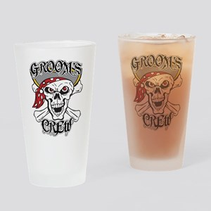 Groom's Pirate Crew Drinking Glass