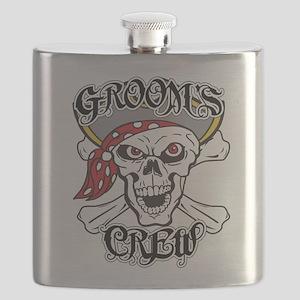 Groom's Pirate Crew Flask