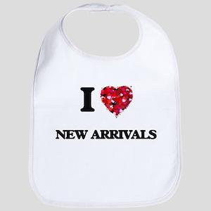 I Love New Arrivals Bib