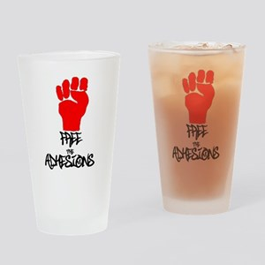 Free The Adhesions T4 Drinking Glass