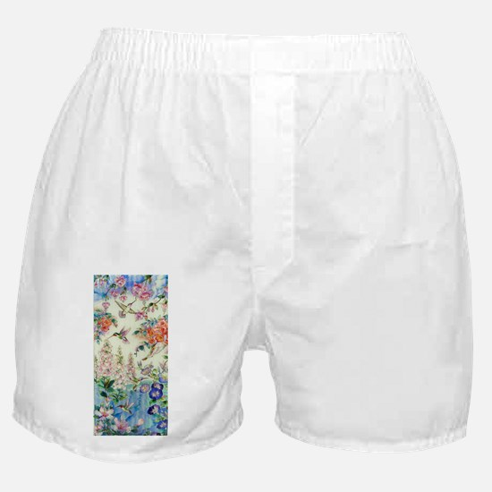 Hummingbirds and Flowers Boxer Shorts