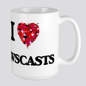 I Love Newscasts Mugs