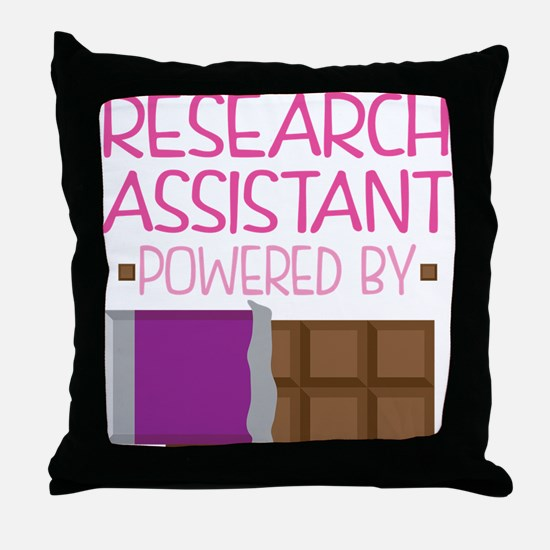 Research Assistant Throw Pillow