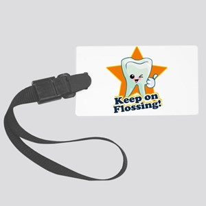 Keep on Flossing Large Luggage Tag